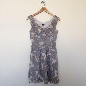 Gap ruffle print sleeveless dress